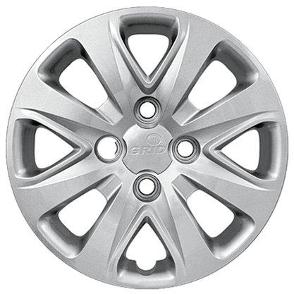 Calota Aro 14 Ford KA 2015 Até 2018 Cubo Baixo Parafusada GRID