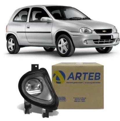 Farol Auxiliar Milha Corsa Hatch e Classic 2000 a 2009 Lado Esquerdo Motorista - ARTEB
