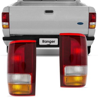 Lanterna Traseira Ford Ranger 1993 1994 1995 1996 1997 Tricolor Lado Esquerda Motorista