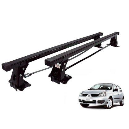 Rack de teto Clio Hatch e Sedan 2000 a 2016 e Symbol 2009 a 2013 4 portas Long Life em Aco