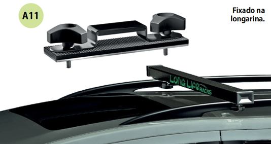 Rack de Teto Travessa Universal Carros com Longarina Long Life em Aço