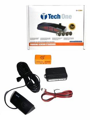 Sensor de Estacionamento 4 Pontos Branco Universal TECH ONE