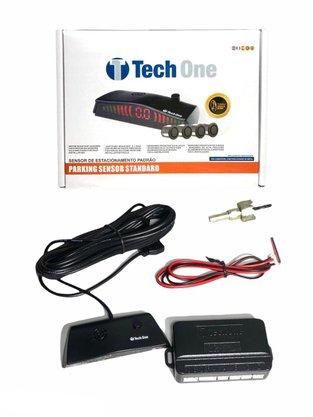 Sensor de Estacionamento 4 Pontos Prata Universal TECH ONE