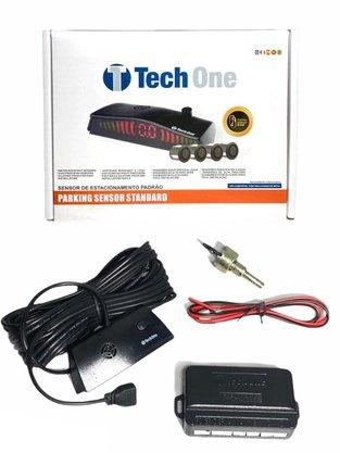 Sensor de Estacionamento 4 Pontos Preto Brilho Universal TECH ONE
