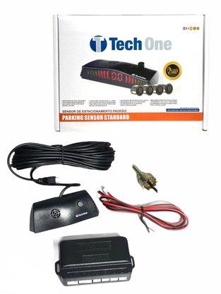 Sensor de Estacionamento 4 Pontos Preto Fosco Universal TECH ONE